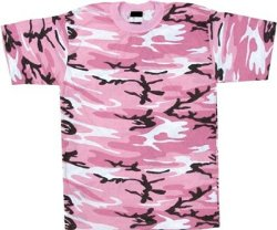 Army Universe - Pink Camouflage Military T-Shirt