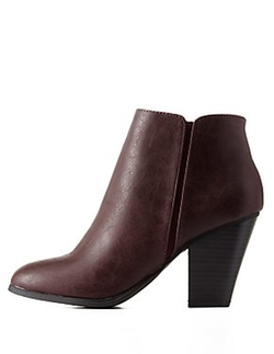 Charlotte Russe - City Classified Chunky Heel Ankle Booties