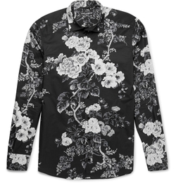 Dolce & Gabbana - Slim-Fit Floral-Print Cotton-Poplin Shirt