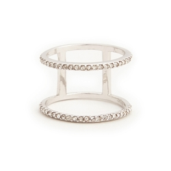 Sole Society - Dainty Double Row Ring