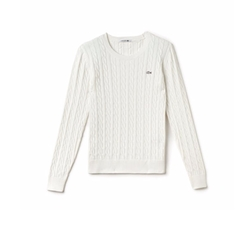 Lacoste - Cable Knit Crewneck Sweater