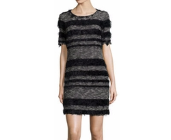 Nicole Miller - Artelier Short-Sleeve Striped Sheath Dress
