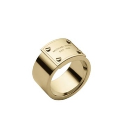 Michael Kors - Gold-Tone Logo Plaque Ring
