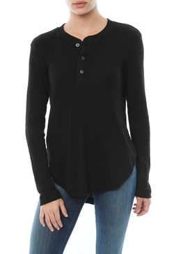 Wilt  - Thermal Henley Shrunken Shirttail Shirt