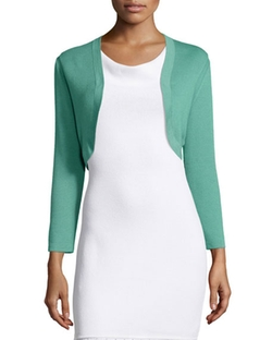 Carolina Herrera - Cropped-Sleeve Knit Bolero