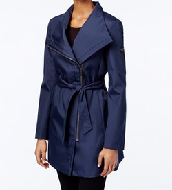 Calvin Klein - Asymmetrical Belted Trench Coat