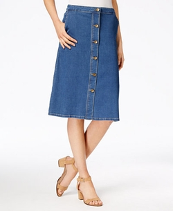 Kut From The Kloth - Button-Front Denim Skirt