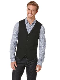 Perry Ellis - CORDED BLACK VEST