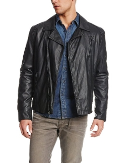 Kenneth Cole REACTION - Faux-Leather Asymmetric-Zip Moto Jacket