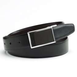 Apt. 9 - Graphic Plaque Reversible Leather Belt