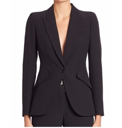 Alexander McQueen - Solid One-Button Blazer
