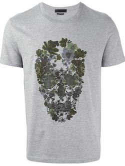 Alexander McQueen - Floral Skull Print T-Shirt