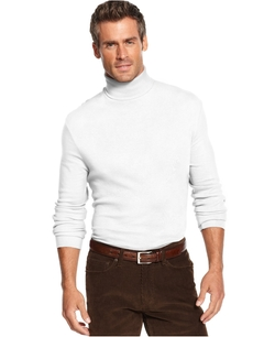 John Ashford - Long-Sleeve Turtleneck Interlock Shirt