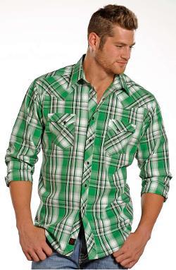 Panhandle Slim - 90 Proof Mens Long Sleeve Plaid Snap Western Shirt