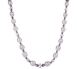 Honora Cultured  - Pearl & Crystal Graduated Necklace