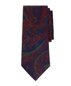 BROOKS BROTHERS - Wool Large Paisley Print Tie