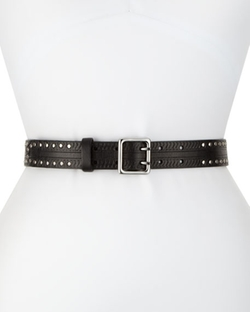 Rag & Bone - Willow Grommet-Detail Leather Belt