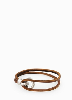 Mango - Metal Hook Leather Bracelet