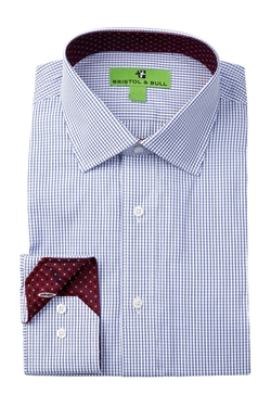 Bristol & Bull  - Classic Collection Graph Check Dress Shirt