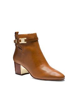 Michael Kors   - Plaque Leather Ankle Boots