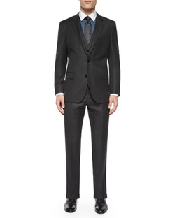 Boss Hugo Boss  - Birdseye Three-Piece Wool Suit