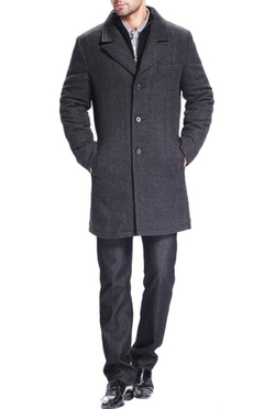 BGSD - Wool Blend Bibbed Walking Coat