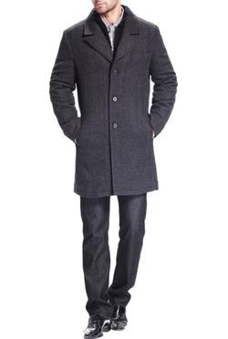 BGSD - Wool Blend Bibbed Walking Coat
