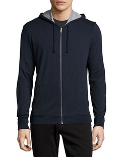 Vince - Reversible Double-Layer Zip-Up Hoodie