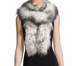 Adrienne Landau - Mongolian Lamb Fur Boa Scarf