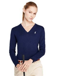 Ralph Lauren - Cotton V-Neck Sweater