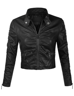 Biadani -  Faux Leather Moto Biker Jacket