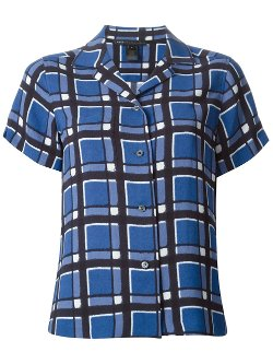 Marc By Marc Jacobs  - Checked Short Sleeve Shirt