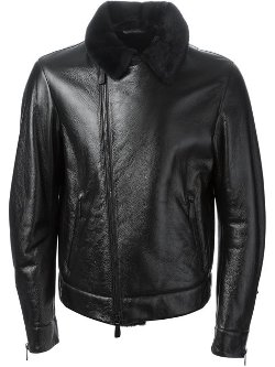 Jil Sander - Fur Lined Biker Jacket
