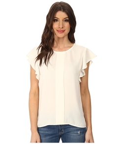 Adrianna Papell  - Front Pleat Flutter Sleeve Top