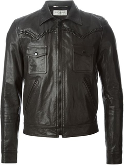 Saint Laurent - Whip-Stitched Biker Jacket