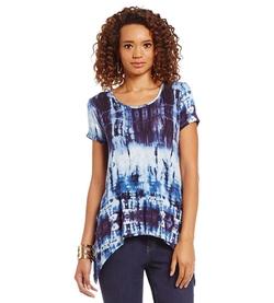 Gibson & Latimer - Tie Dye-Print Tee Shirt
