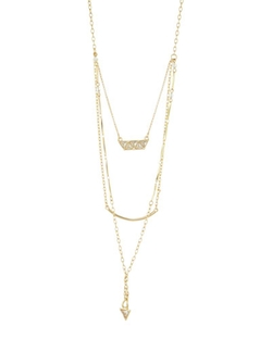 Lydell NYC  - Tiered Crystal Drop Necklace