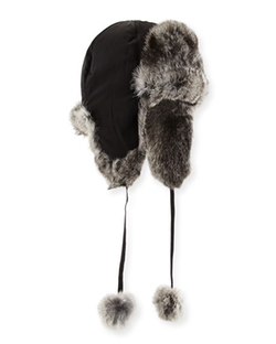 Adrienne Landau  - Rabbit Fur Trapper Hat