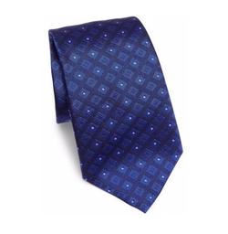 Armani Collezioni - Diamond Grid Patterned Silk Tie
