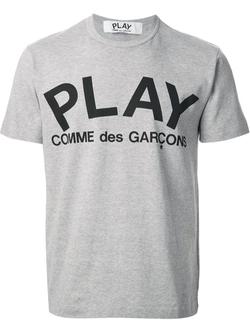 Comme Des Garçons  - Play Logo Print T-shirt