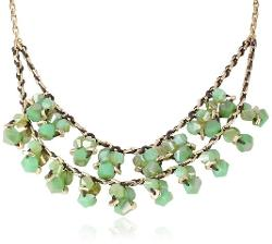 Kenneth Cole New York  - Tropics Two-Tone Shaky Faceted Bead Cluster 2 Row Necklace
