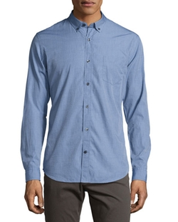 Vince - Chambray End-On-End Woven Shirt