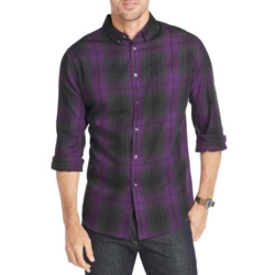 Van Heusen - Long-Sleeve Plaid Shirt