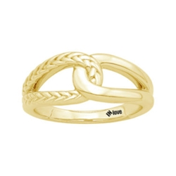 In Love  - Yellow Gold Infinity Ring