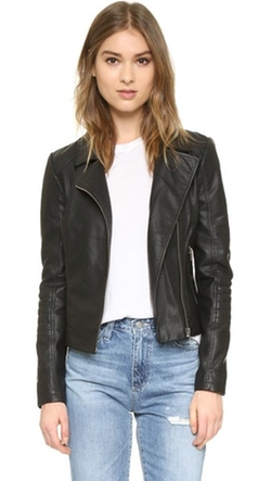 Cupcakes And Cashmere  - Sid Vegan Leather Moto Jacket
