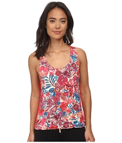 Maaji  - Blooming The Sky Hibiscus Blush Tank Top