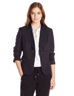 Kasper - Petite Dot Pinstripe 2 Button Suit Jacket