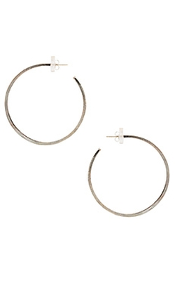 Natalie B Jewelry - Brushed Hoop Earrings