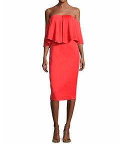 Camilla & Marc - Off-the-Shoulder Popover Sheath Dress