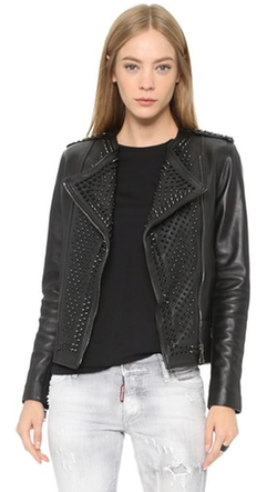 Nour Hammour - Erin Studded Leather Jacket